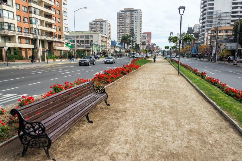 Centrum van Vina del Mar stock fotografie