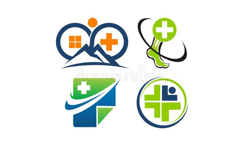 Centrum Zdrowia szablonu set ilustracji