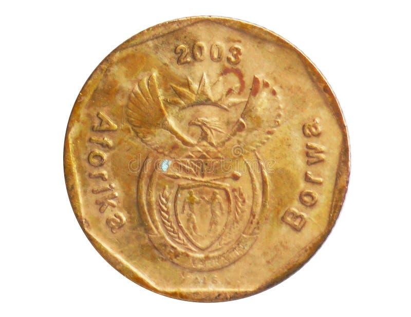 20 Cents Aferika Borwa - Tswanasprachmünze, 1994~Today - zweite Republik - Zirkulation serie, Bank von Südafrika lizenzfreie stockbilder