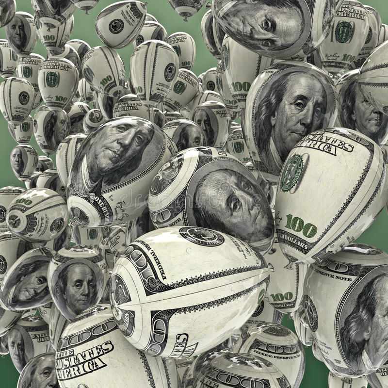 Cents ballons du dollar illustration stock