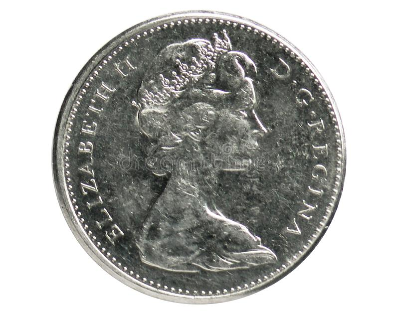 5 Cents Beaver coin, 1952~Today - Elizabeth II serie, Bank of Canada royalty free stock photos