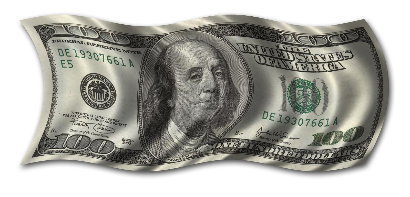 Cents billet d'un dollar images libres de droits