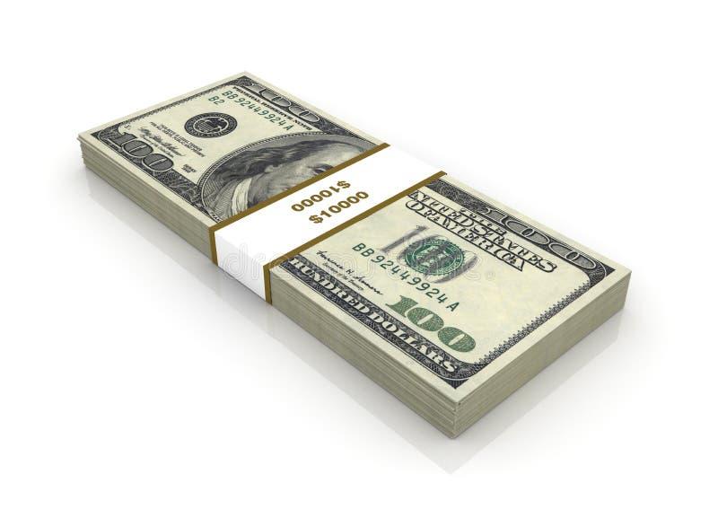 Cents billets d'un dollar illustration de vecteur
