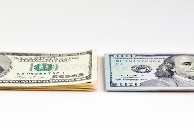 Cents billets de banque du dollar Dollars de concept de plan rapproché américain photos stock