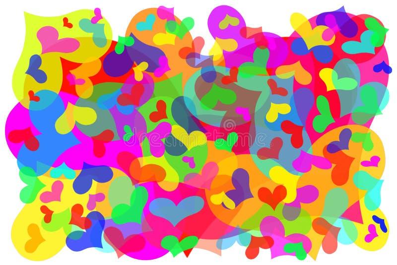 Cents coeurs isolés de Valentine illustration libre de droits