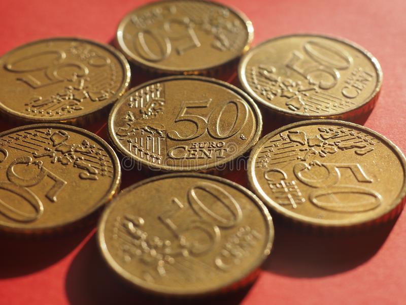 50 cents coin, European Union royalty free stock photography