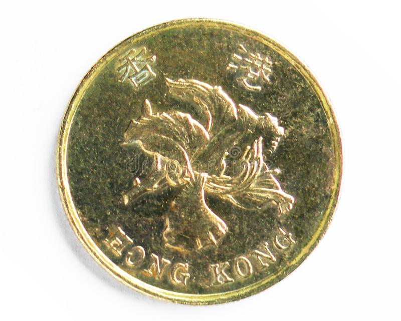 50 Cents coin, 1992~Today - Bauhinia Series, Bank of Hong Kong stock photos