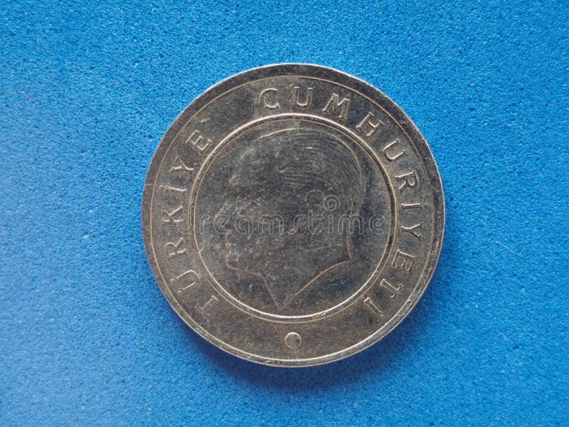 25 cents coin, Turkey. 25 Kurus (cents) coin money (TRY), currency of Turkey royalty free stock photography