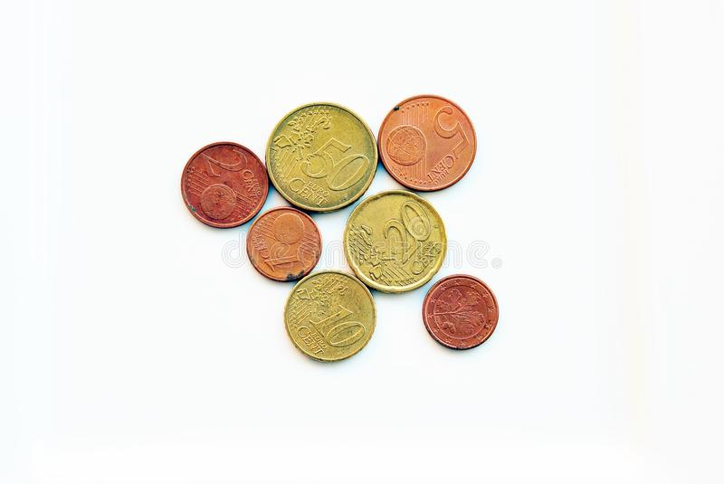 Cents. Coins euro  is the most popular currency in Europe. She pays her millions royalty free stock photography