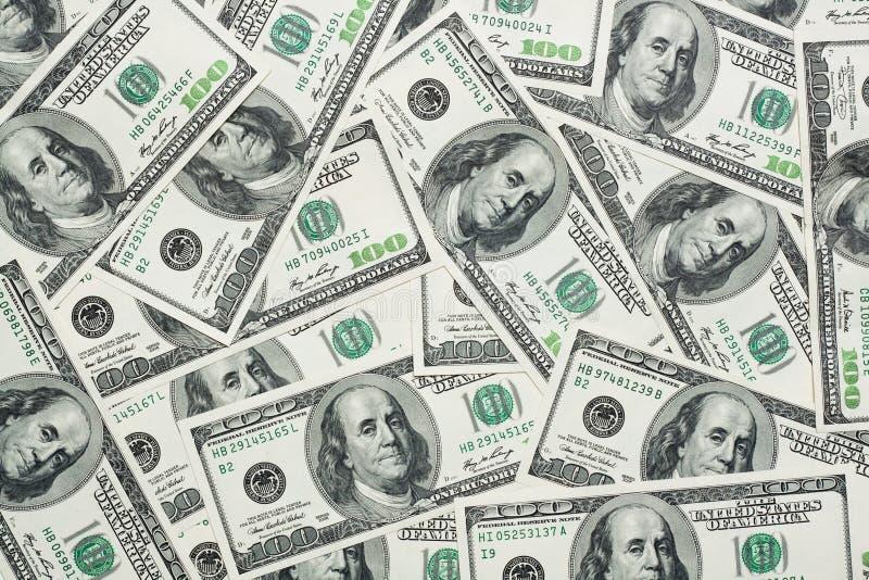 Cents Dollars De Billets De Banque Photo libre de droits