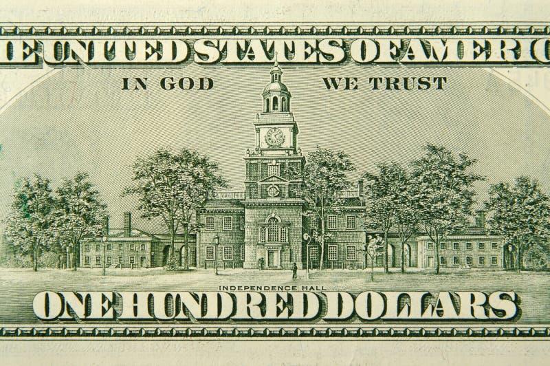 Cents dos de billet d'un dollar image stock
