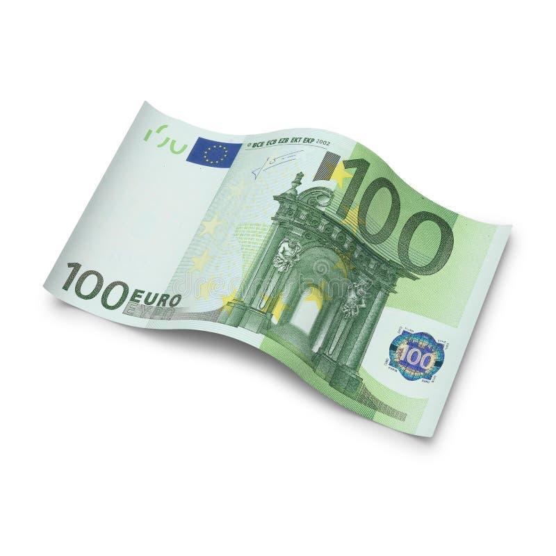 Cents notes d'euro sur le fond blanc illustration de vecteur