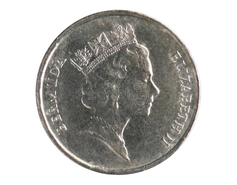 5 Cents prägen, 1970~Today - Zirkulation - Dollar serie, Bank von Bermuda stockbild