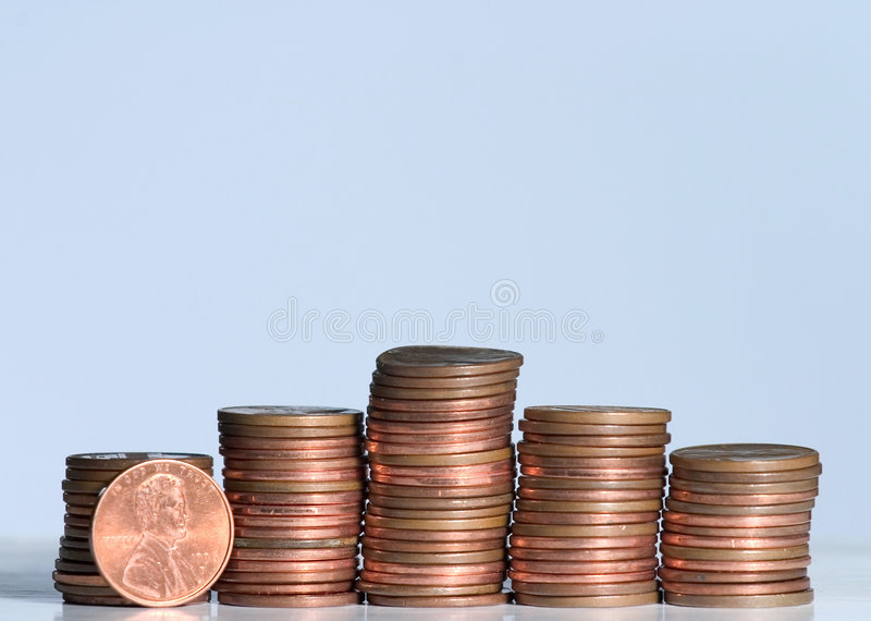 Download Cents pyramid stock image. Image of finance, change, blue - 478243