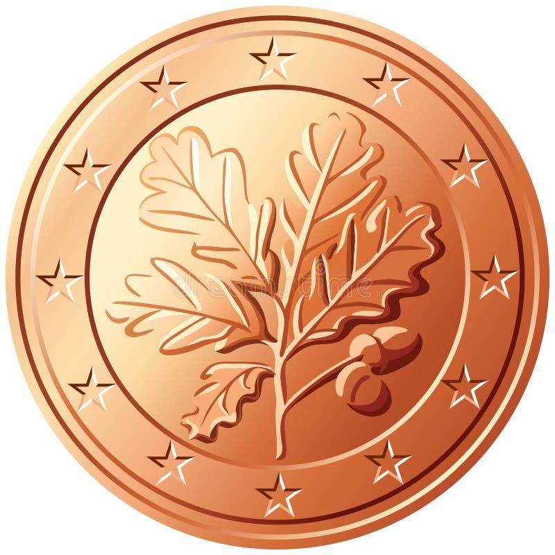 centu euro Germany pieniądze wektor ilustracji