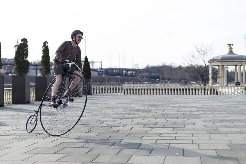 Centu Farthing bicykl w Filadelfia zdjęcia stock