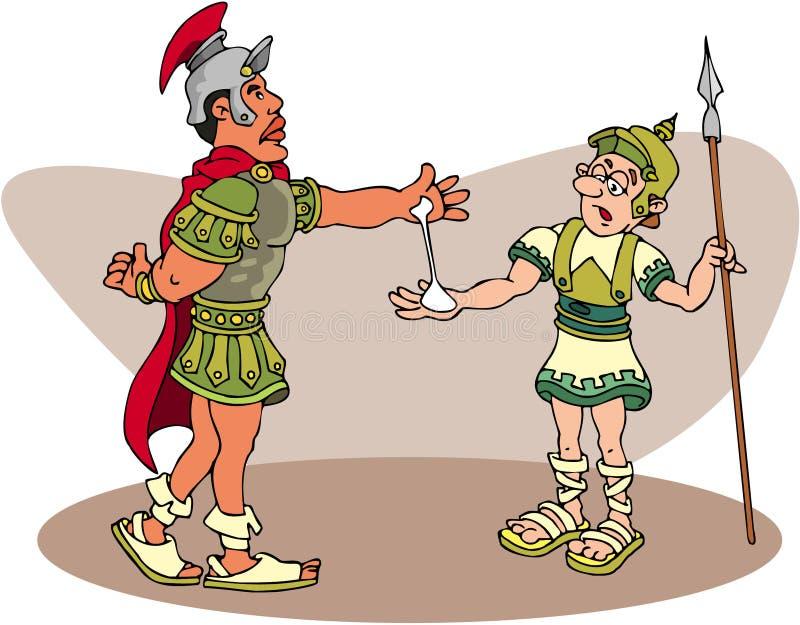 Centuri?n romano stock de ilustración