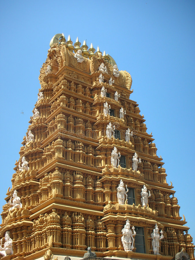 Centuries-old Hindu Temple Tower stock photo