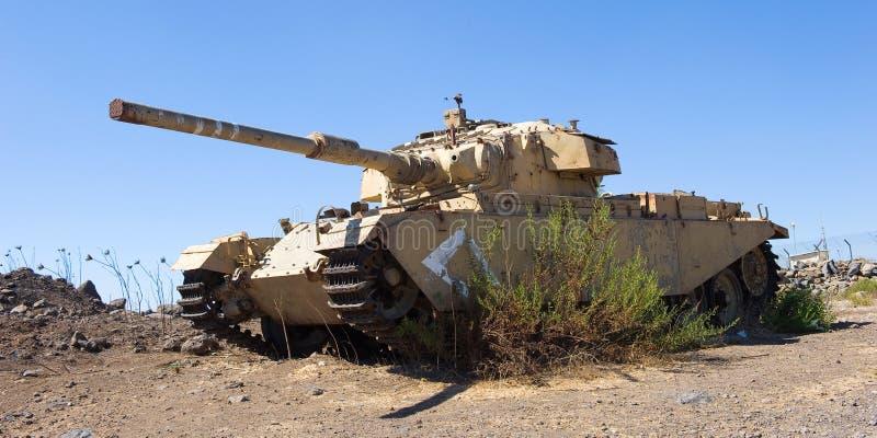 Centurion tank verlaten van de yom kippur oorlog stock fotografie