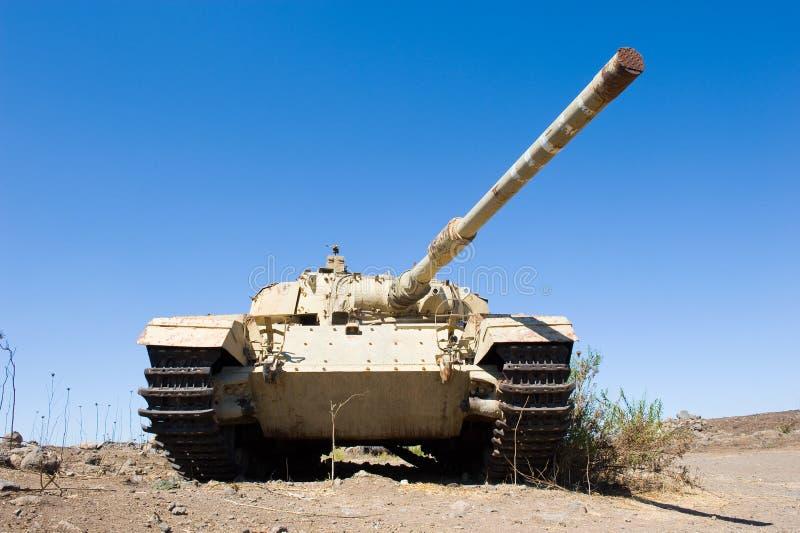 Centurion tank verlaten van de yom kippur oorlog royalty-vrije stock foto's