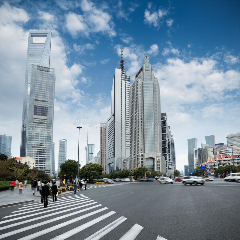 The Century Avenue In Shanghai Royalty Free Stock Images