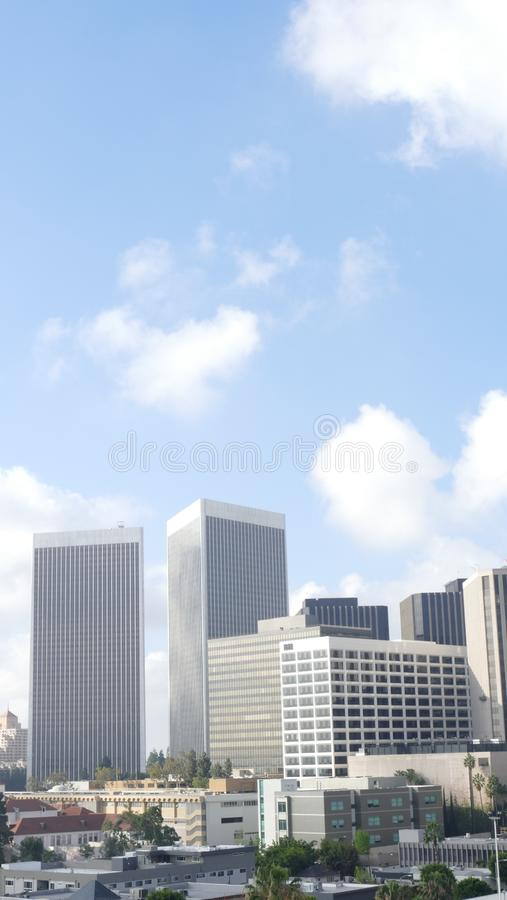 Century City, California. A daytime view of Century City, California, with blue sky and a few clouds stock photos
