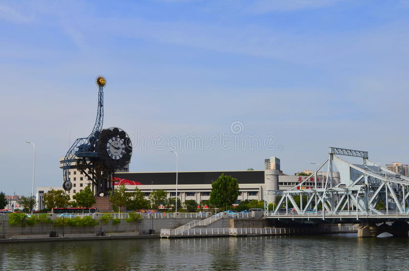 Century Clock in Tianjin, China royalty free stock images