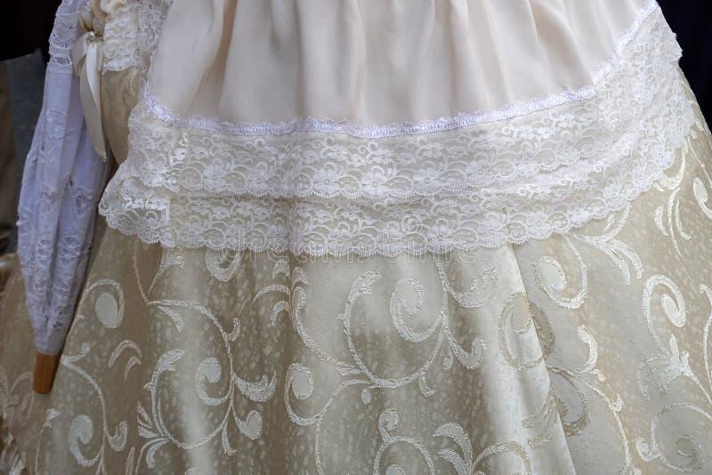 19 century dress close up detail. 19 century female woman dress close up detail stock images