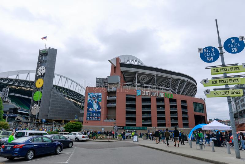 CenturyLink领域(Seahawks体育场),西雅图,华盛顿,美国 免版税库存图片