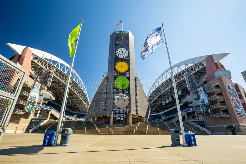 CenturyLink pole, Seattle zdjęcia royalty free
