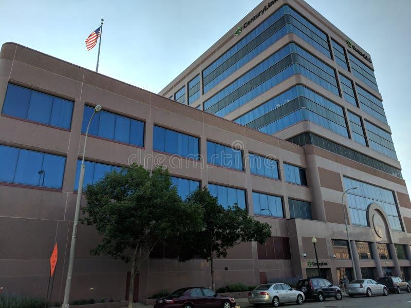 CenturyLink, Sioux Falls. The CenturyLink building in downtown Sioux Falls, South Dakota stock image