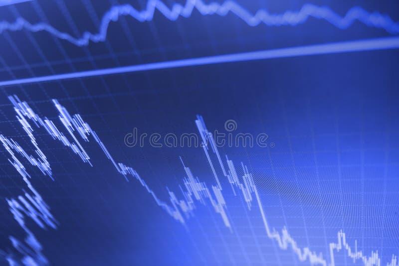 Ceny akcji candlestick mapa Pokaz wycenia wykresu unaocznienie wycena ilustracja wektor