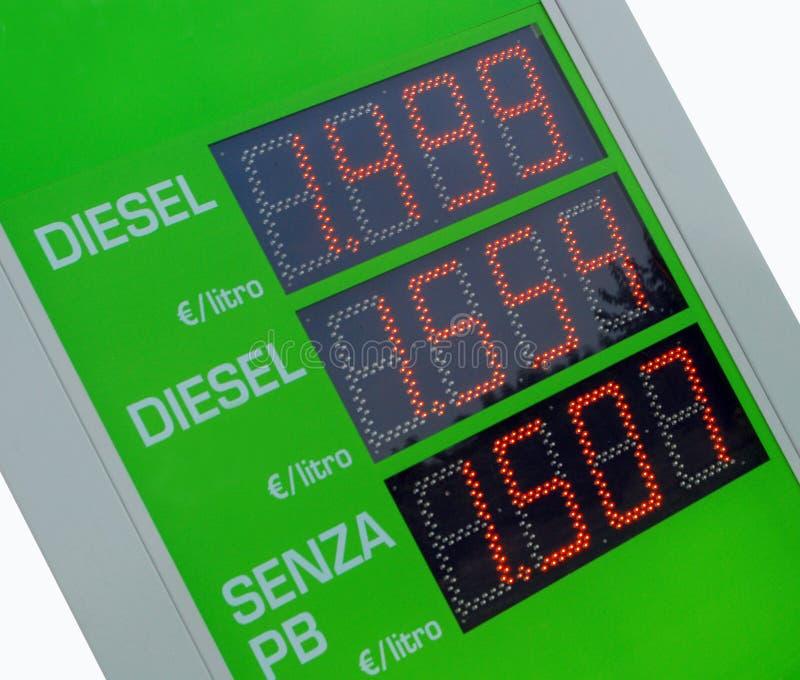 ceny benzyny euro znak fotografia royalty free