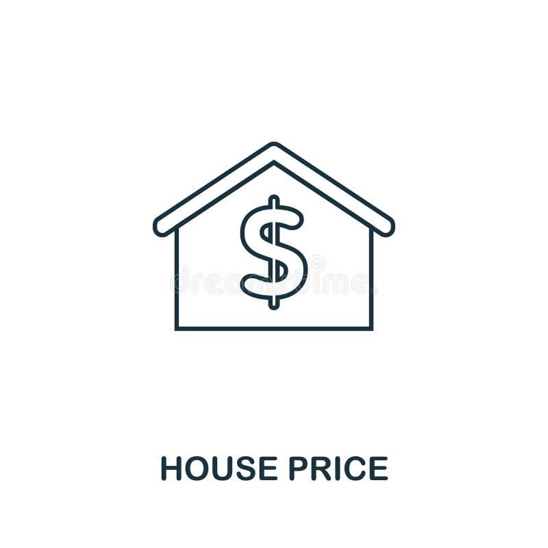 Ceny domu ikona Prosta element ilustracja Cena Domu konturu ikony projekt od nieruchomości kolekcji Sieć projekt, apps, miękka cz ilustracji