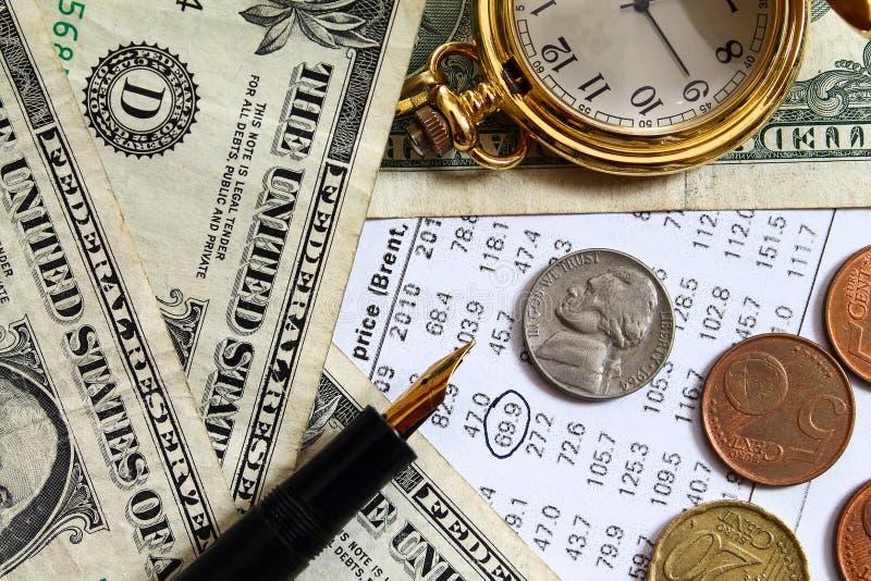 Ceny ropy zmiana bankowość - energetyczny kryzys - obrazy stock