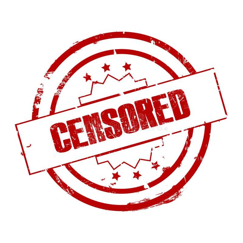 Cenzurujący znaczek lub znak royalty ilustracja