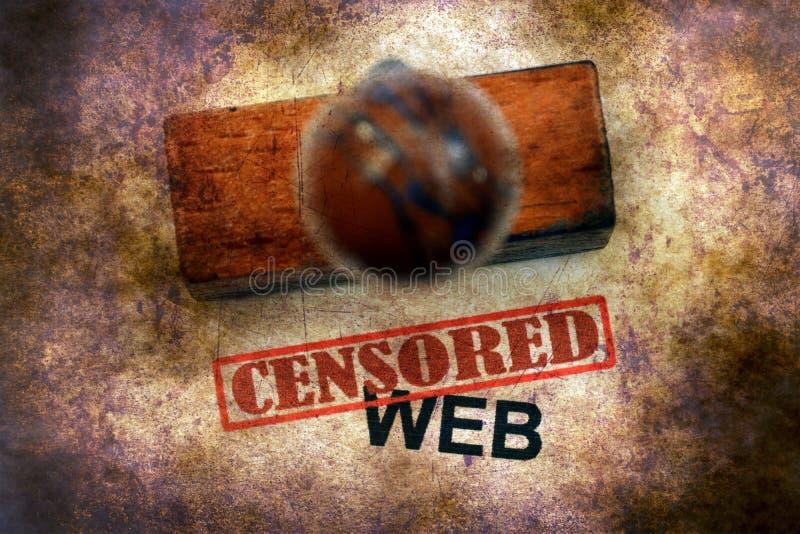 Cenzurujący znaczek na sieci zdjęcia stock
