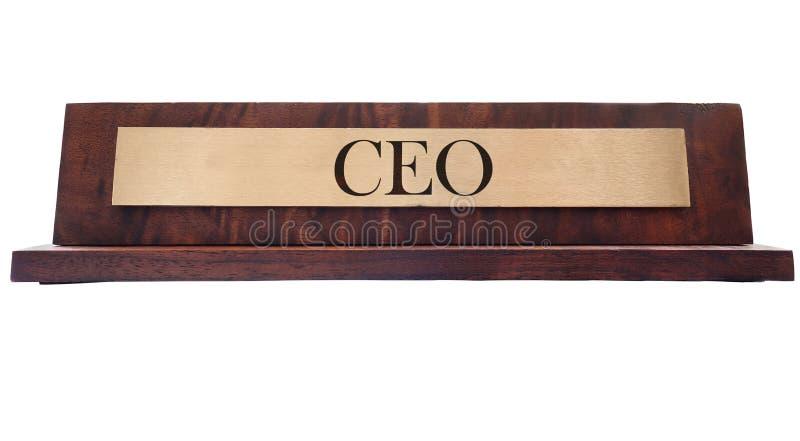 CEO名字板极 库存照片