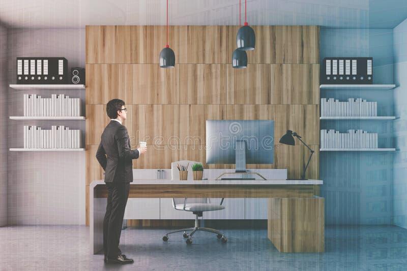 Ufficio Bianco E Legno : Ceo bianco e di legno ufficio tonificato fotografia stock