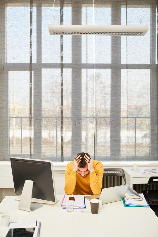 CEO with business problem or crisis stock photo