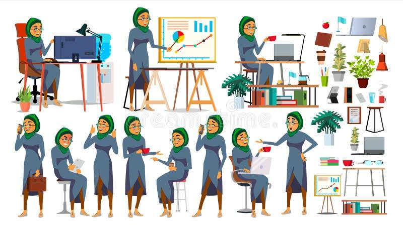 CEO Character Vector de Boss CEO, director de gerente, representante Director Actitudes, emociones Boss Meeting historieta stock de ilustración