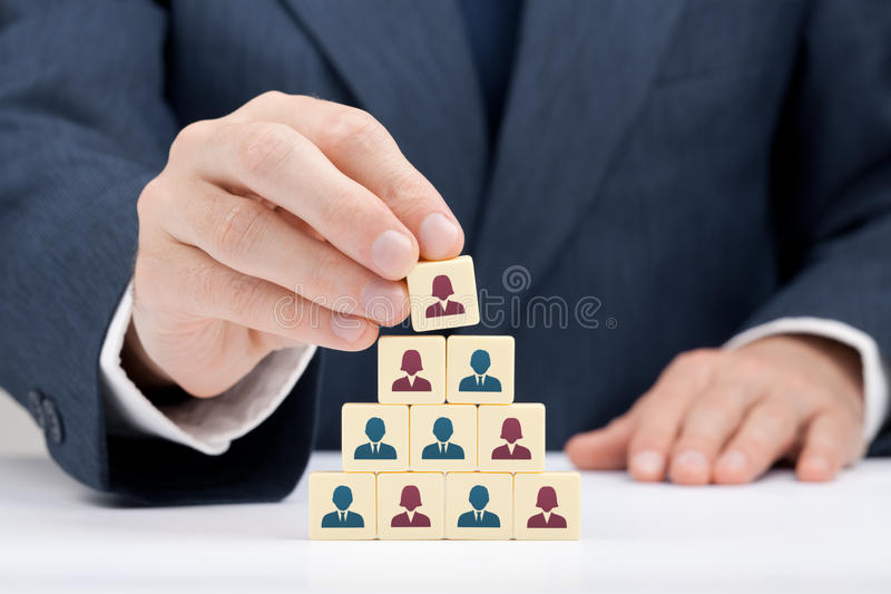 CEO da mulher e recursos humanos imagens de stock
