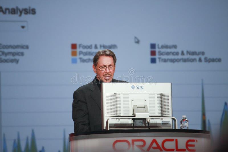 CEO de Oracle Larry Ellison imagen de archivo libre de regalías