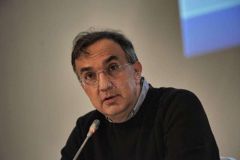 CEO de Sergio Marchionne del grupo automotriz de FCA fotos de archivo libres de regalías