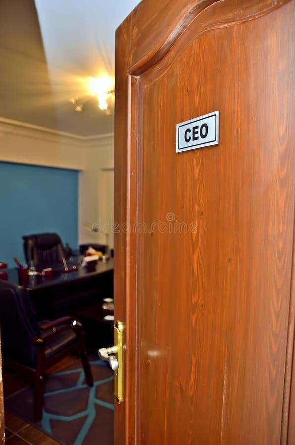 CEO Door fotos de stock royalty free
