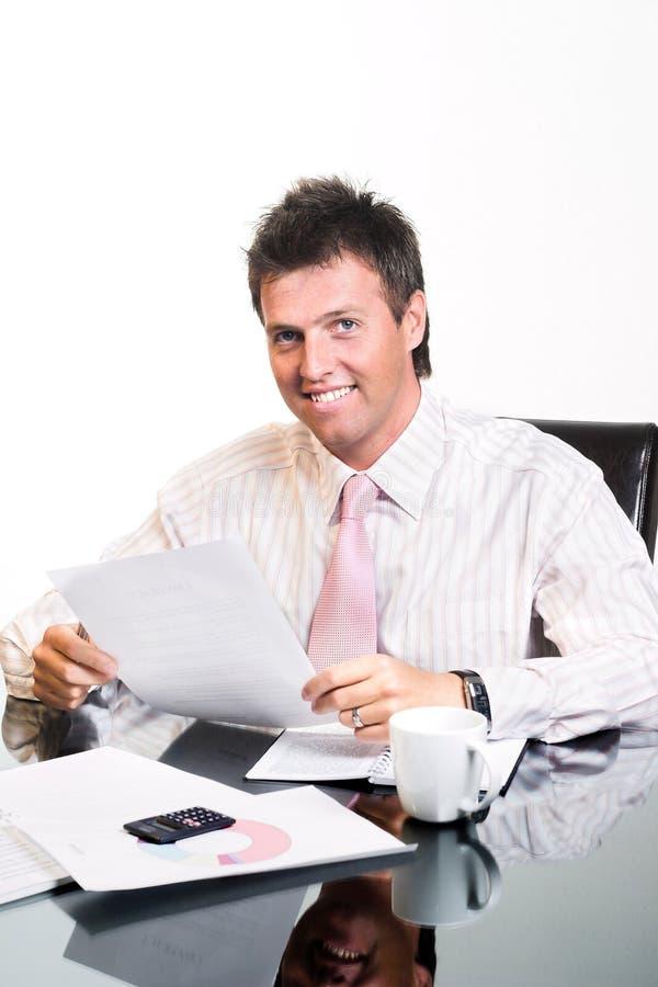 CEO - Geschäftsmann - getrennt lizenzfreie stockfotografie