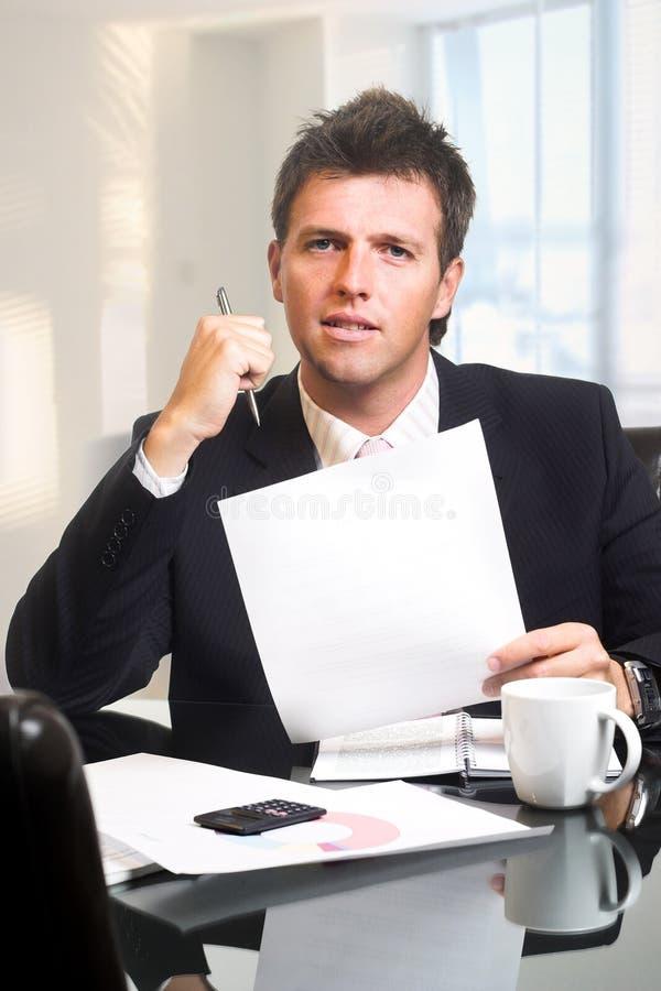 CEO - Geschäftsmann im Büro lizenzfreies stockbild
