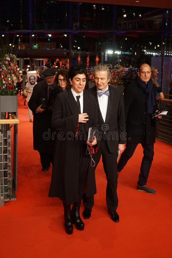CEO of Glashuette Original Thomas Meier at the 68th Berlinale 2018. Berlin, Germany - February 24, 2018: CEO of Glashuette Original Thomas Meier and guest royalty free stock images