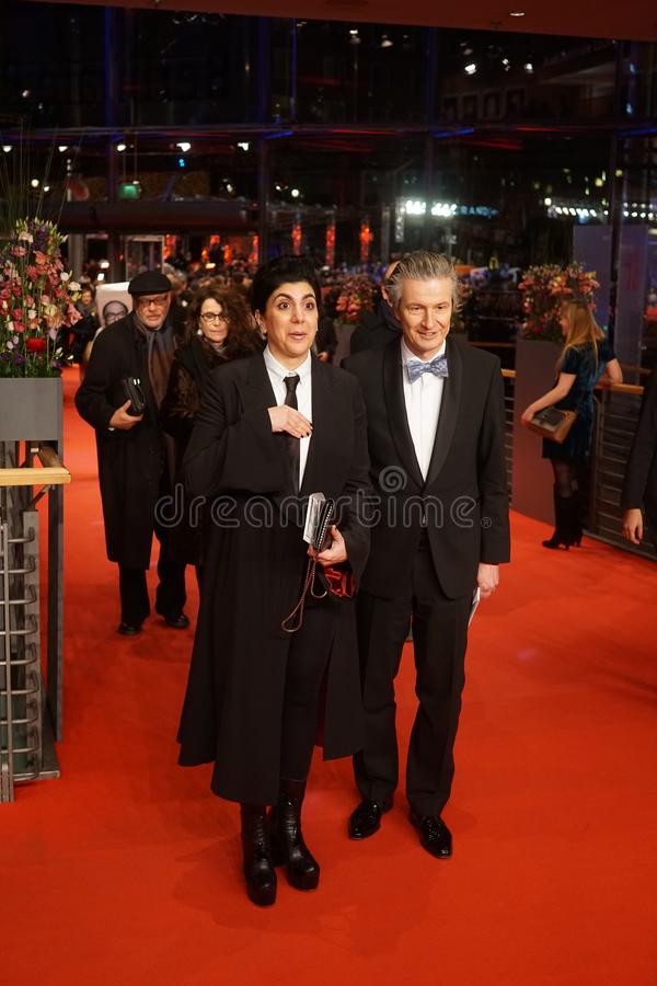 CEO of Glashuette Original Thomas Meier at the 68th Berlinale 2018. Berlin, Germany - February 24, 2018: CEO of Glashuette Original Thomas Meier and guest stock images