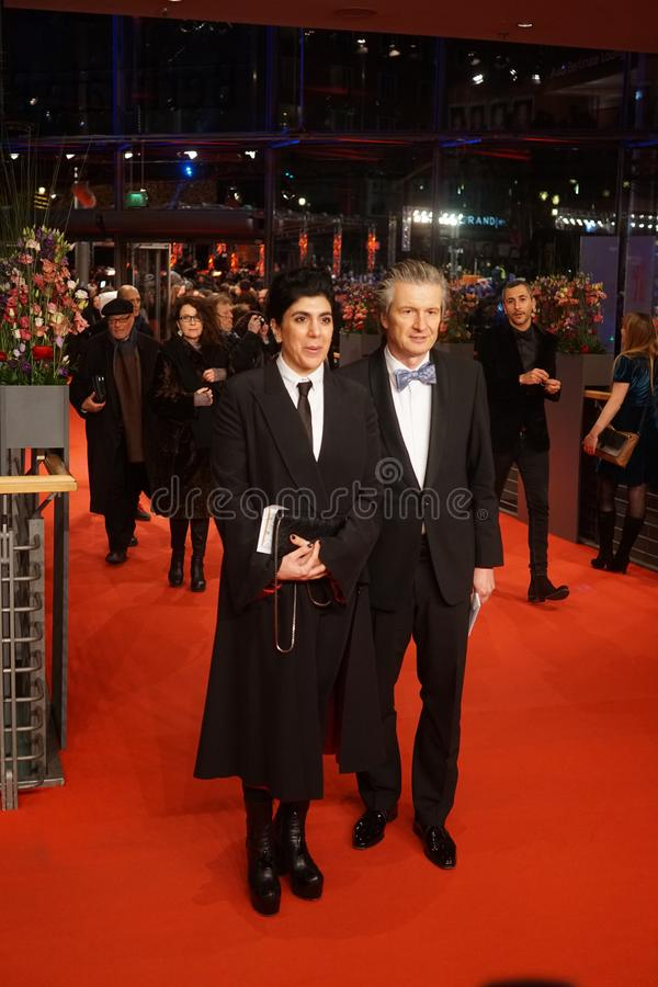CEO of Glashuette Original Thomas Meier at the 68th Berlinale 2018. Berlin, Germany - February 24, 2018: CEO of Glashuette Original Thomas Meier and guest royalty free stock photos
